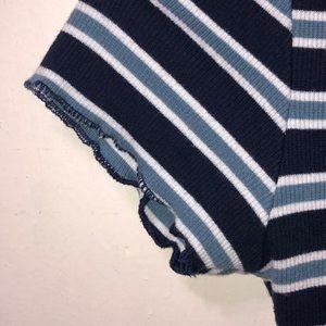 dip Tops - dip blue crop shirt